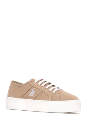 U.S. Polo Assn. Kadın Y7Erin Sneaker Ayakkabı Bej