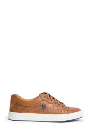 U.S. Polo Assn. Kadın Y7Potrero Sneaker Ayakkabı Kahverengi