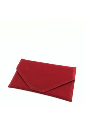 Milles Süet Zarf Abiye Çanta - Kırmızı