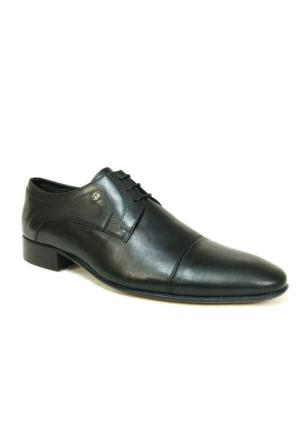 Burç 2240 Siyah Bağcıklı Kösele Erkek Ayakkabı