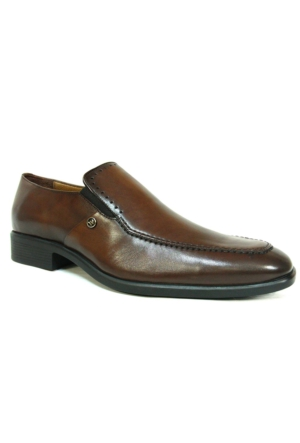 Burç 2261 Kahverengi %100 Deri Klasik Abiye Erkek Ayakkabı
