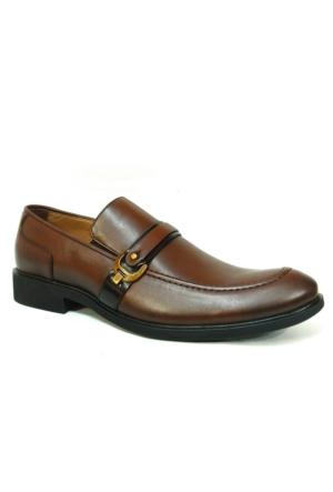 Burç 2294 Kahverengi Bağcıksız Klasik Abiye Ayakkabı