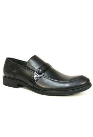 Burç 2294 Siyah Bağcıksız Klasik Abiye Ayakkabı