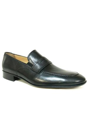 Burç 2295 Siyah %100 Deri Klasik Abiye Erkek Ayakkabı