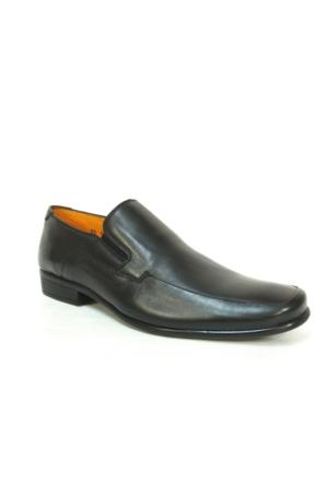 Burç 626 Siyah Bağcıksız Erkek Ayakkabı