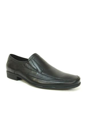 Burç 639 Siyah Bağcıksız Erkek Ayakkabı