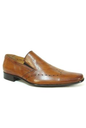 Burç Bc392 Taba Bağcıksız Kösele Erkek Ayakkabı