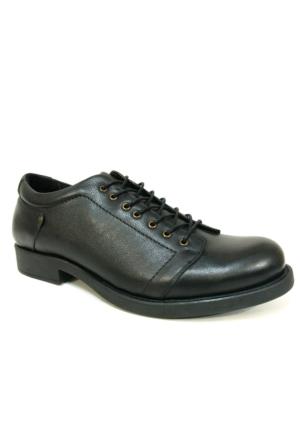 Pepita 2332 Siyah %100 Deri Bağcıklı Erkek Ayakkabı