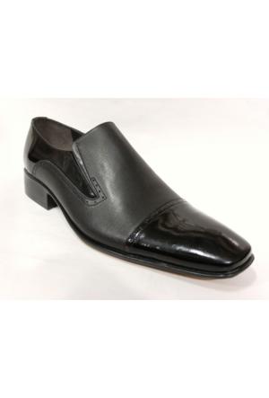 Punto 600224 Siyah Bağcıksız Erkek Ayakkabı