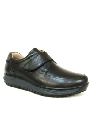 Punto 632346 Siyah Cırtlı Ortopedik Comfort Erkek Ayakkabı