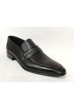 Punto 647076 Siyah Bağcıksız Erkek Ayakkabı