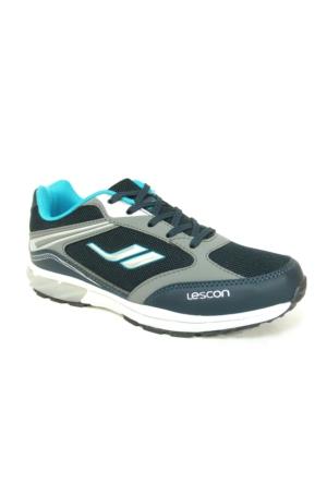 Lescon Lacivert Turkuaz Bağcıklı Çocuk Spor Ayakkabı