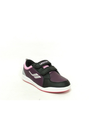 Lescon Pembe Mor Siyah Cırtlı Çocuk Spor Ayakkabı