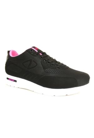 Nstep Percy Siyah Fuşya Bağcıklı Günlük Bayan Spor Ayakkabı