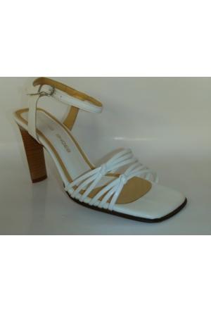 Dennis Shoes Beyaz Bayan Abiye Ayakkabı