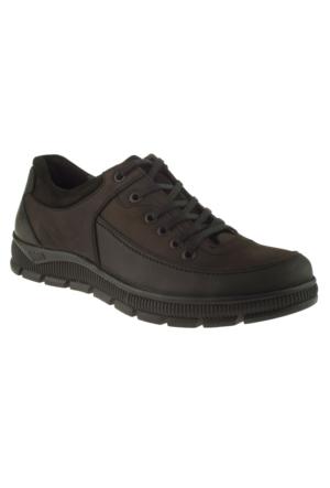 Jump 14334 Casual Deri Siyah Erkek Ayakkabı