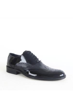 Burç 2511 Klasik Rugan Erkek Ayakkabı Siyah