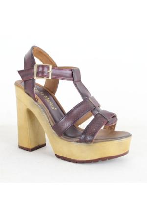 Santa Marina 7000 Bayan Topuklu Ayakkabı Bordo