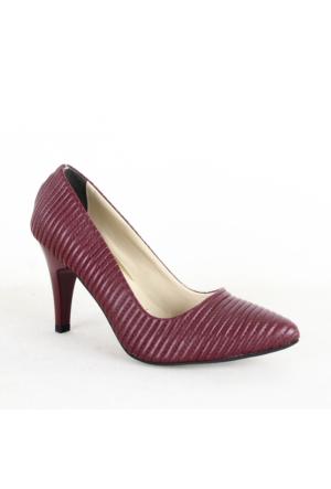 Treks Tecen 198 Bayan Klasik Topuklu Ayakkabı Bordo