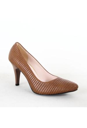 Treks Tecen 198 Bayan Klasik Topuklu Ayakkabı Taba