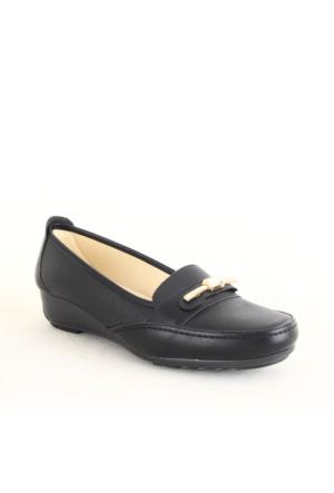 Wanetti 1124 Bayan Tokalı Günlük Ayakkabı Siyah