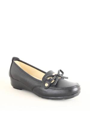 Wanetti 1305 Bayan Fiyonklu Günlük Ayakkabı Siyah
