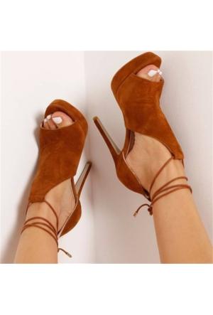 AyakkabıDevi Caresse Hardal Süet Platform Ayakkabı