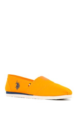 U.S. Polo Assn. Kadın Y7Huff Espadril Ayakkabı Turuncu