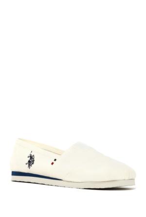 U.S. Polo Assn. Kadın Y7Huff Espadril Ayakkabı Beyaz