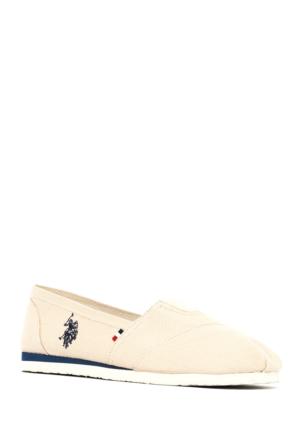 U.S. Polo Assn. Kadın Y7Huff Espadril Ayakkabı Bej