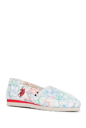 U.S. Polo Assn. Kız Çocuk Y7Flair Ayakkabı Beyaz