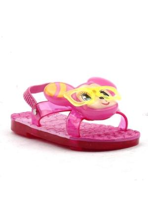 Gezer 8554 Işıklı-Sesli Havuz Plaj Kız Çocuk Terlik