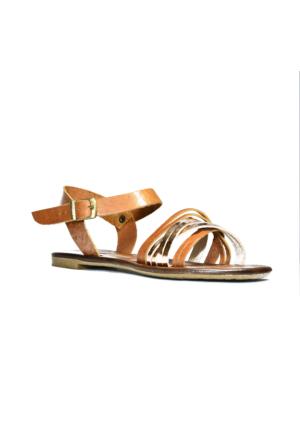 İntenin Camel Gold Renkli Sandalet