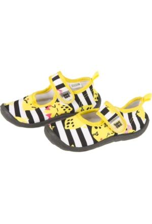 Tuc Tuc Kız Çocuk Lycra Deniz Ayakkabısı Crazy Lemons Sarı - Siyah Çizgili