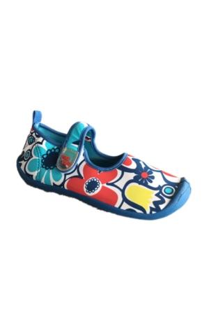 Tuc Tuc Çocuk Deniz Ayakkabısı Çiçekli