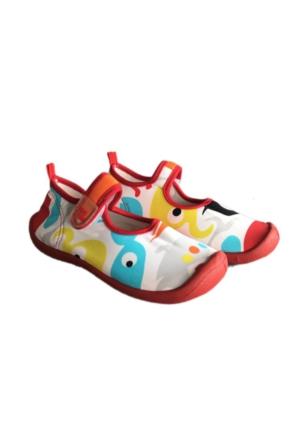 Tuc Tuc Çocuk Deniz Ayakkabısı Beyaz Desenli