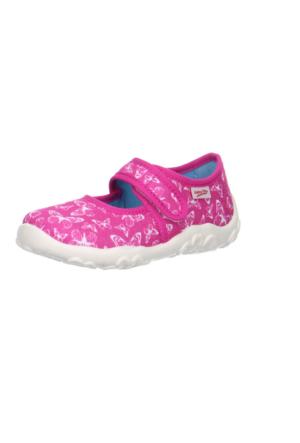 Super Fit Kız Çocuk Ev Ayakkabısı Bonny 283.64 Fuşya Desenli