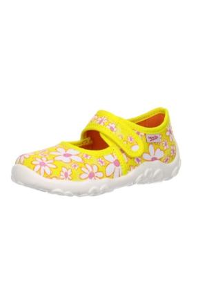 Super Fit Kız Çocuk Ev Ayakkabısı Sun Kombi Textil Bonny 281.97 Sarı Çiçekli