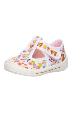 Super Fit Kız Çocuk Ev Ayakkabısı Bully 264.51 Beyaz Desenli