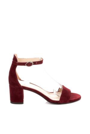 Pembe Potin Bordo Nubuk Ayakkabı