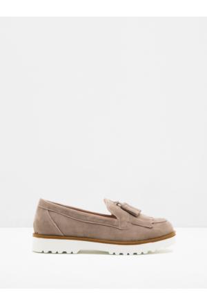 Koton Kadın Bağcıksız Ayakkabı Ekru
