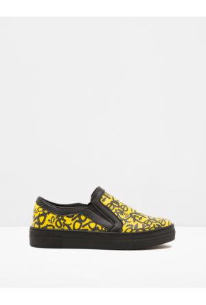 Koton Kadın Bağcıksız Ayakkabı Sarı