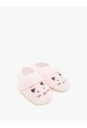 Koton Kız Çocuk Desenli Ayakkabı Pembe