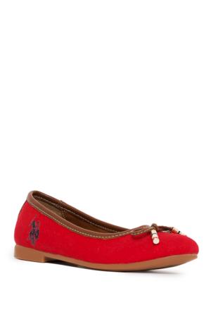 U.S. Polo Assn. Kız Çocuk Y7Leslie Ayakkabı Kırmızı