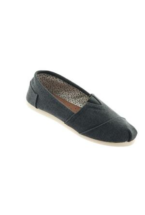 Twigy 4 Renk Keten Yazlık Ayakkabı Siyah Espadril
