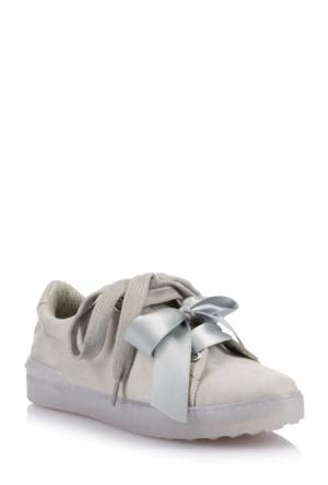 DeFacto Kadın Bağcıklı Kurdeleli Ayakkabı Gri