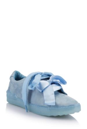 DeFacto Kadın Bağcıklı Kurdeleli Ayakkabı Mavi