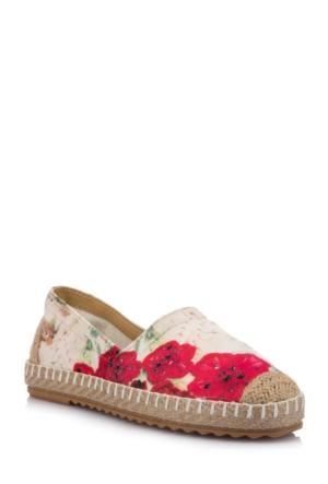 DeFacto Kadın Desenli Ayakkabı Bej