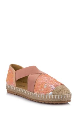 DeFacto Kadın Pul Payet İşlemeli Ayakkabı Pembe