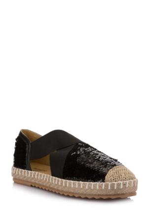 DeFacto Kadın Pul Payet İşlemeli Ayakkabı Siyah